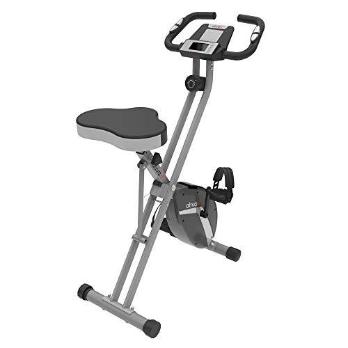 ATIVAFIT Ativaift Heimtrainer X- Bike mit groem Sitz, klappbares Fitnessbike, Fitnessfahrrad, Fahrradtrainer...