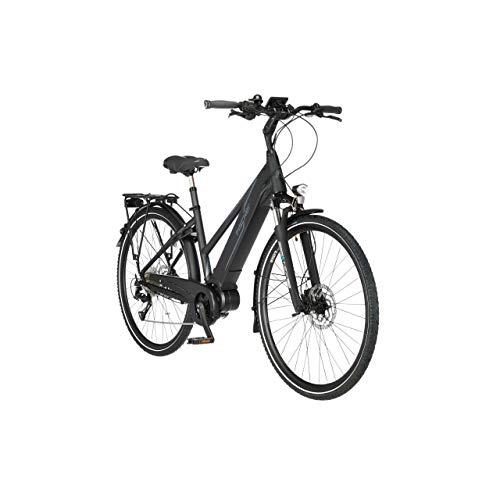 FISCHER Damen - Trekking E-Bike VIATOR 4.0i, Elektrofahrrad, schwarz matt, 28 Zoll, RH 44 cm, Mittelmotor 50...