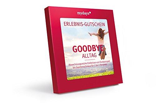 mydays Erlebnis Gutschein Goodbye Alltag in Geschenkbox, über 200 Erlebnisse für 1-2 Personen