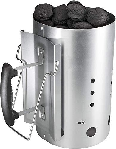 Bruzzzler Anzündkamin, Feuerkohleanzünder, Brennstarter, Kohleanzünder, mit Sicherheitsgriff aus Kunststoff...