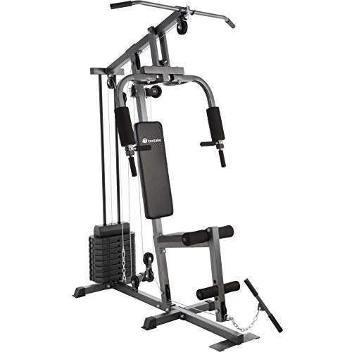 TecTake Kraftstation Fitnessstation Heimtrainer | Butterflymodul | Latzugstange | Beinstreckervorrichtung -...