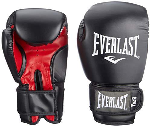 Everlast Erwachsene Boxen Punchinghandschuhe 1803, Schwarz (Black/Red), S,8 oz