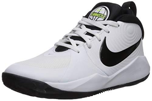 Nike Unisex Kinder Team Hustle D 9 (GS) Basketballschuhe, Weiß (White/Black/Volt 000), 39 EU
