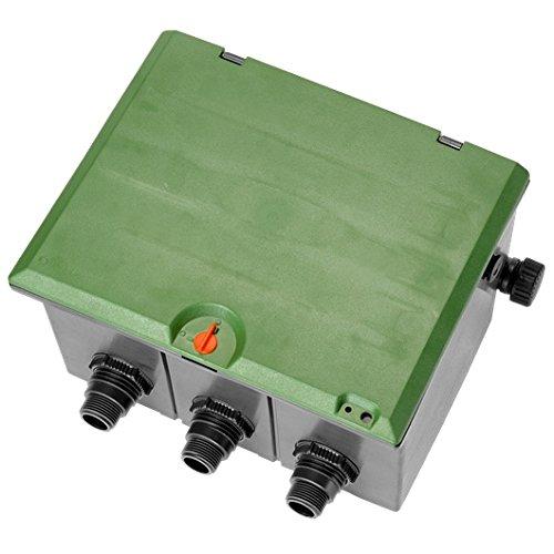 Arqueta pre-montada de 3 vías Para colocar 3 electroválvulas de 9 ó 24 V.