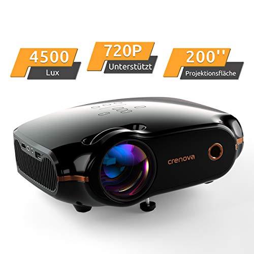 Mini Beamer Full HD Video Projektor, Crenova Portable Beamer mit 200' Bildgröße unterstützt 1080P, 4500...