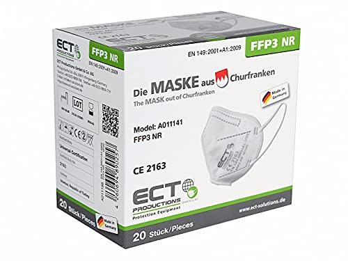 ECT FFP3 Masken CE Zertifiziert aus Deutschland - 20X FFP3 Maske (NR) MADE IN GERMANY - Premium...