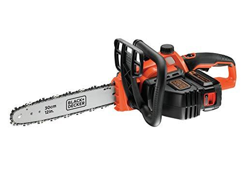 Black+Decker Li Ion Akku Kettensäge 36V GKC3630L20 mit Akku und Ladegerät – Ideal für Holz- &...