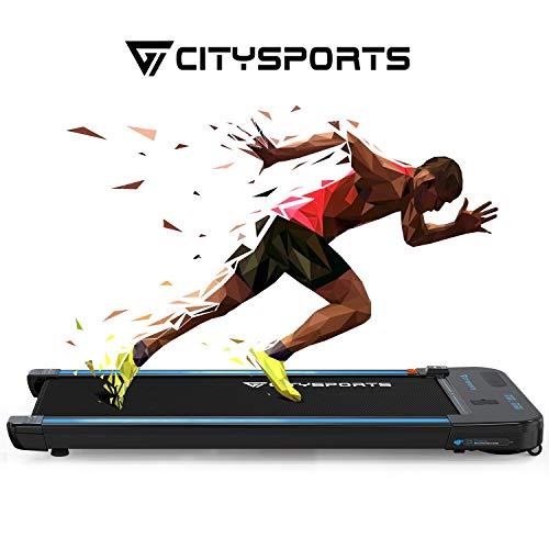 CITYSPORTS Laufband, 440W Motor, eingebaute Bluetooth-Lautsprecher, einstellbare Geschwindigkeit 1-6KM,...