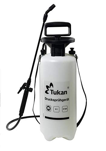 TUKAN Drucksprüher 5 Liter | Gartenspritze/Sprühgerät für den Pflanzenschutz | 5 L Füllinhalt |...