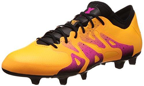 adidas Herren X 15.1 Fg/Ag Fußballschuhe, Orange (Solar Gold/Core Black/Shock Pink), 46 2/3