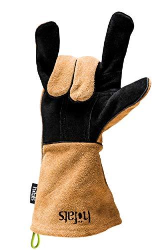 höfats - Grillhandschuhe aus Leder und Kevlar - hitzebeständig - zum Grillen, als Topfhandschuh oder...