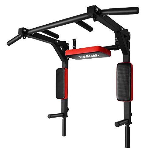 ONETWOFIT Schwerlast multifunktionelle Klimmzugstange für die Wandmontage, Pull-Up-Bar Trainingsstange...