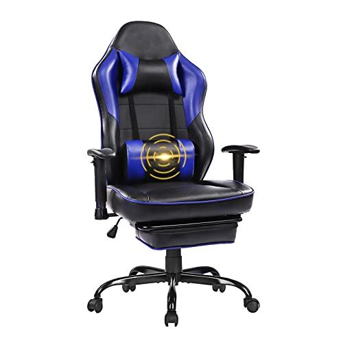 Wolmics Massage Gaming Stuhl - Hohe Rückenlehne Racing Computer Schreibtisch Bürostuhl Drehbarer...