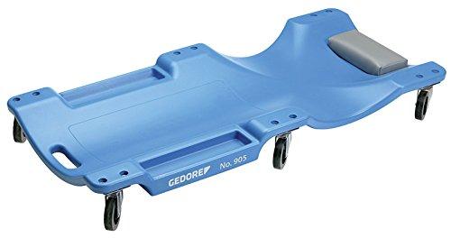 GEDORE Rollbrett, Kopf-/Nackenpolster, 2 Mulden für Werkzeuge/Kleinteile, Dynamische Tragkraft 130kg,...