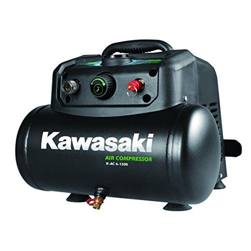 Kawasaki Kompressor, Luftkompressor, 1200W, lfreier Motor, 8 Bar, 6 Liter Tank, tragbar, 180 l/min