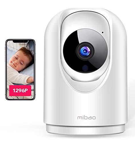 mibao 1296P WLAN IP Kamera, WiFi Überwachungskamera, mit 350°/100°Schwenkbar, Home und Baby Monitor mit...