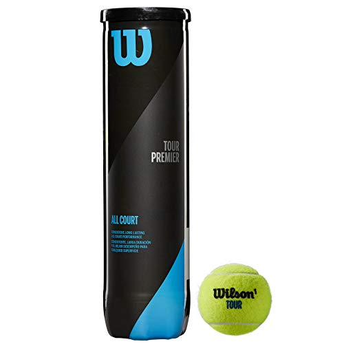 Wilson Tennisbälle Tour Practice, gelb, 4er Dose, WRT114500