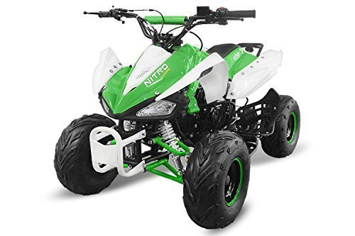 Kinderquad Speedy 125cc RG7 7' Automatik+Rückwärtsgang Quad ATV Bike Midi Buddy Pocket Kinder (Weiss-Grün)