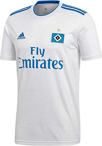 adidas Herren Hamburger SV Home Kurzarm Trikot, White/HSV Blue, L
