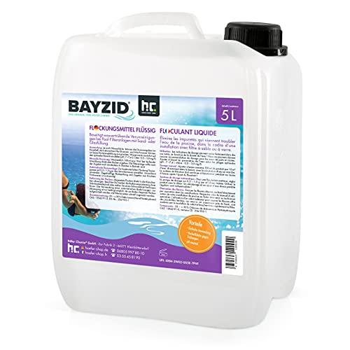 Höfer Chemie 2 x 5 L Pool Flockungsmittel flüssig BAYZID kristallklares Poolwasser - einfache Anwendung +...