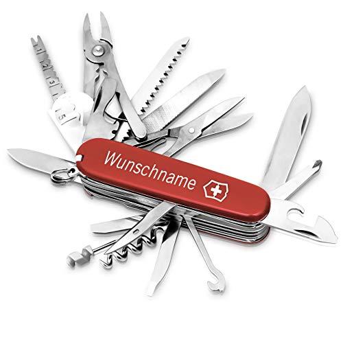 Victorinox Swiss Champ Taschenmesser mit Gravur I Geschenk für Männer I Geschenke zum Geburtstag I Messer...