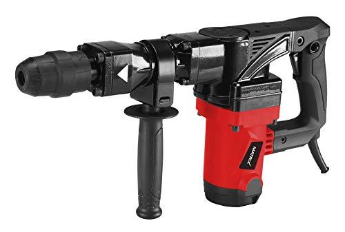 Matrix Abbruchhammer, 1300 Watt, 25 Joule Schlagkraft, 4.300 Schläge pro Minute, mit Zusatzhandgriff, Meißel...