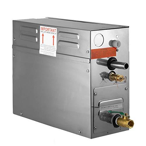 FlowerW 4KW Sauna Dampferzeuger Dampfgenerator Tragbarer Dampferzeuger mit Temperatur Digitalregler Timer