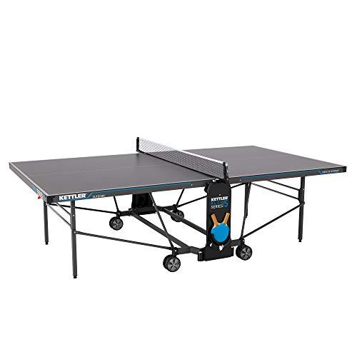 KETTLER K5, Outdoor Profi Tischtennisplatte, Turnierqualität, robuste 5mm Melaminharzplatte mit kratzfester...