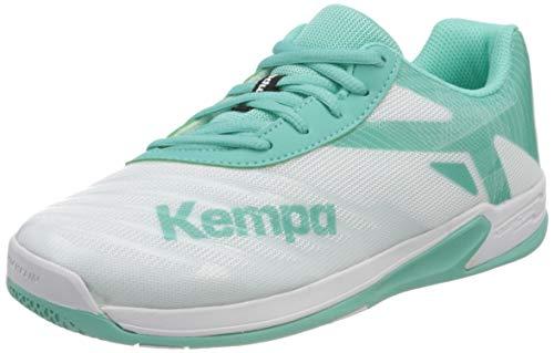 Kempa Wing 2.0 JUNIOR Handballschuhe, Mehrfarbig (Weiß/Türkis 05), 36 EU