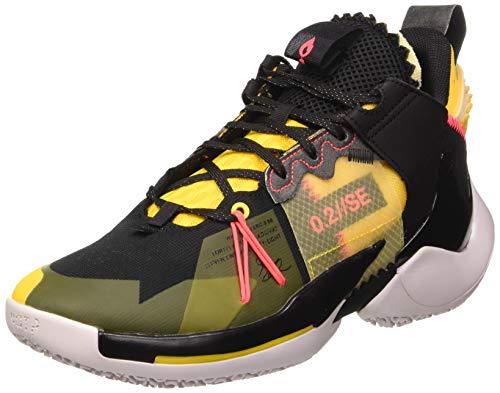 Jordan Herren why Not Zer0.2 Se Basketballschuhe, Schwarz/Flash Crimson/Gelb/Vast Grey, 40 EU