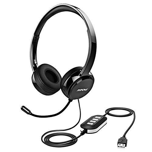 Mpow PC Headset 071, USB Headset, 3,5mm Klinke Headset für entspanntes Gaming, e-Learning und Musik, Headset...