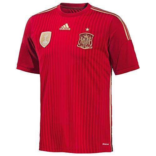adidas Herren Trikot FEF Spanien Home, rot (Victory Red S04/Light Football Gold/Toro), XL