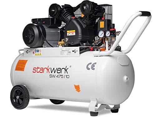 2200 Watt 230 V 10 Bar 100 l Kessel Keilriemenantrieb Druckluftkompressor Luftkompressor Kompressor Compressor...