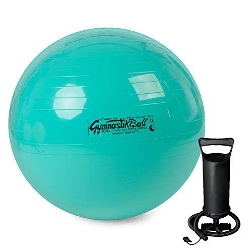 PEZZI Original Gymnastikball Standard inkl. Ballpumpe Ø 42 cm bis 75 cm Sitzball Reha Therapie Büro Stuhl...