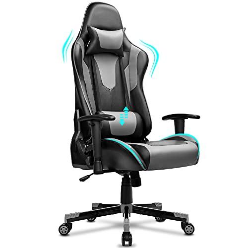 BASETBL Gaming Stuhl, Ergonomischer Gaming Sessel, PC Gamer Racing Stuhl Verstellbare Armlehne Bürostuhl...