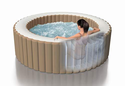 Intex Whirlpool Pure SPA Bubble Massage - Ø 196 cm x 71 cm, für 4 Personen, Fassungsvermögen 795 l, beige,...