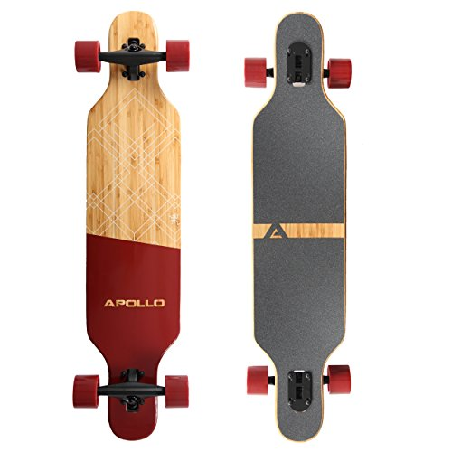 Apollo Longboard Special Edition Komplettboard inkl. T-Tool, mit High Speed ABEC Kugellagern, Drop-Through...
