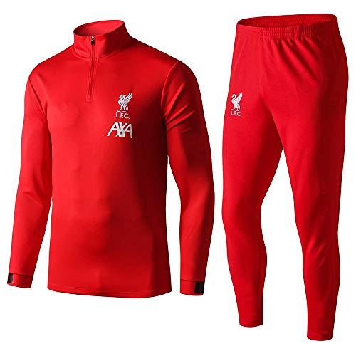 XunZhiYuan Liverpool Fußball-Trainingsanzug mit Langen Ärmeln Anzug für Sportbekleidung für Erwachsene...