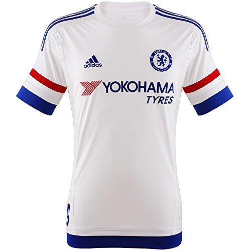 adidas Herren Trikot FC Replica Spieler-Auswärts, White/Chelsea Blue/Power Red, L