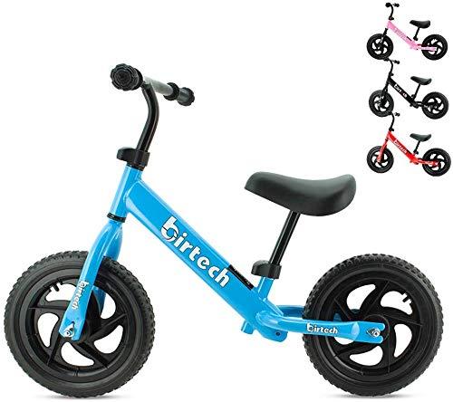 Birtech Laufrad Kinder ab 1 2 3 4 Jahre Balance Fahrrad 12 Zoll Kinderrad Lauffahrrad Sport Fahrrad mit...