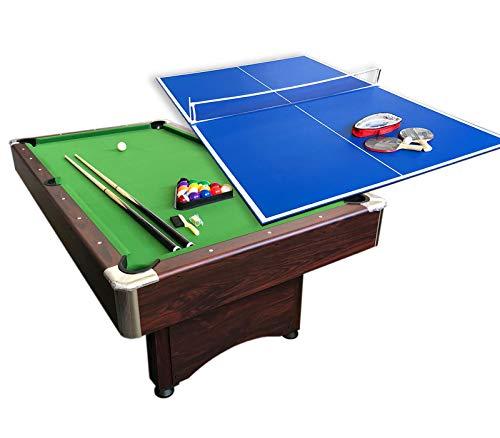 grafica ma.ro srl Billardtisch Billard 7 FT Billard-Spiel Neue und Tischtennisplatte Sirio