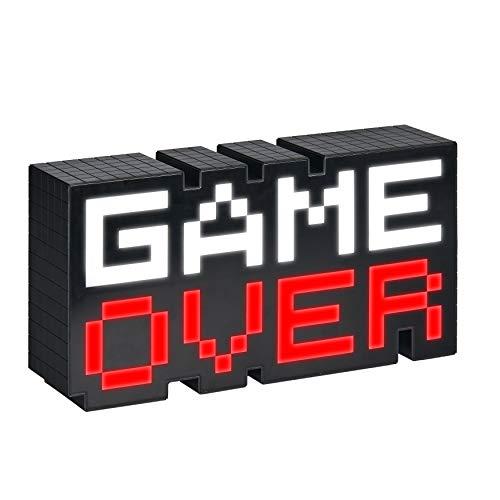 Paladone Game Over Lampe schwarz/transparent, Bedruckt, 100% Kunststoff, im Geschenkkarton.