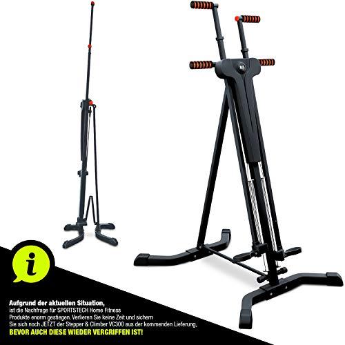 Sportstech innovativer 2in1 Stepper & Vertical Climber Fitness - Klettern - Kletterbewegungen, klappbar,...