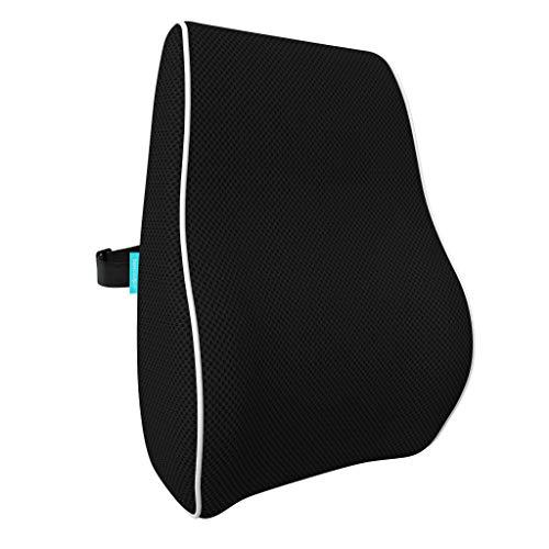 bonmedico Ergonomisches Rücken-Kissen aus Memory Foam, Rückenkissen für Bequeme Sitzhaltung im Alltag,...