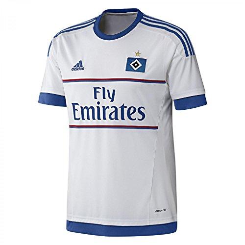 adidas Herren Kurzarm Heimtrikot Hamburger SV Replica, White/Hsv Blue, S