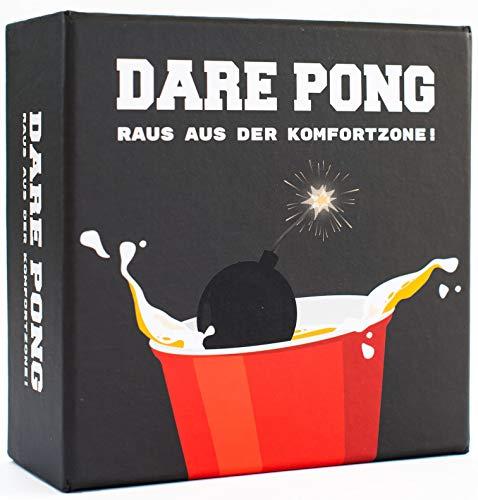 Dare Pong® - Beer Pong trifft auf Wahrheit oder Pflicht. Trinkspiel Neuheit 2020 ! Ideal für Partys,...
