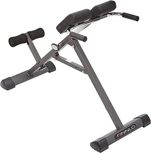 HAMMER Finnlo Bauch-/Rückentrainer Tricon, Hyperextensionsbank für einen gesunden Rücken, Dipstangen für...