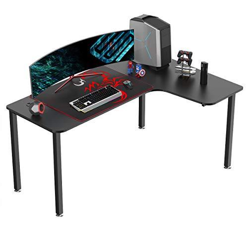 EUREKA ERGONOMIC Gaming Tisch L60 Eckschreibtisch Gaming Büro Schreibtisch L-förmige PC Tisch Gaming Groß...