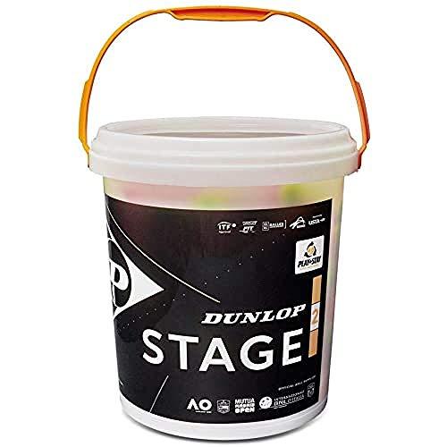 Dunlop Tennisball Stage 2 orange - 60 Bucket, 601343 Einheitsgröße, Gelb/Orange