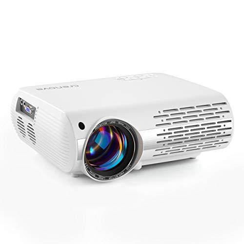 Beamer, 5000 Lux Video Projektor Full HD Crenova XPE660 unterstützt 1080P Heimkino led Beamer , Verbindung...